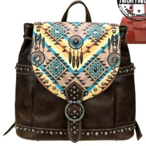 Montana West Aztec Dream Catcher Backpack